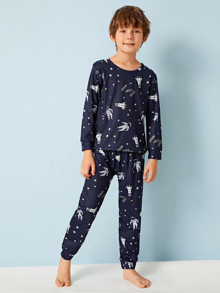 Boys Space Print PJ Set