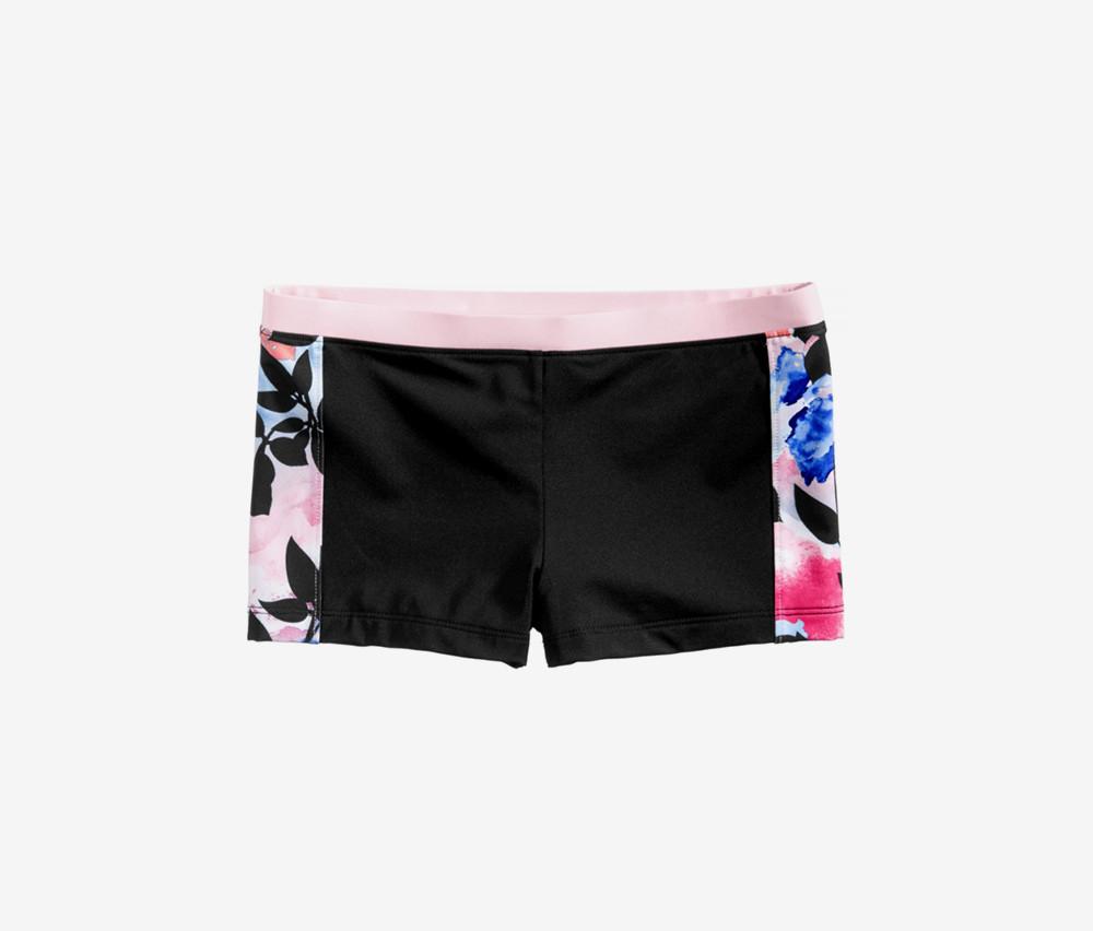 Ideology Floral-Print Swim Boyshorts  Black/Pink