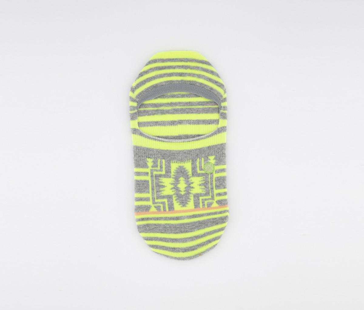 Stance Mens Sun Up Socks  Lime/Grey