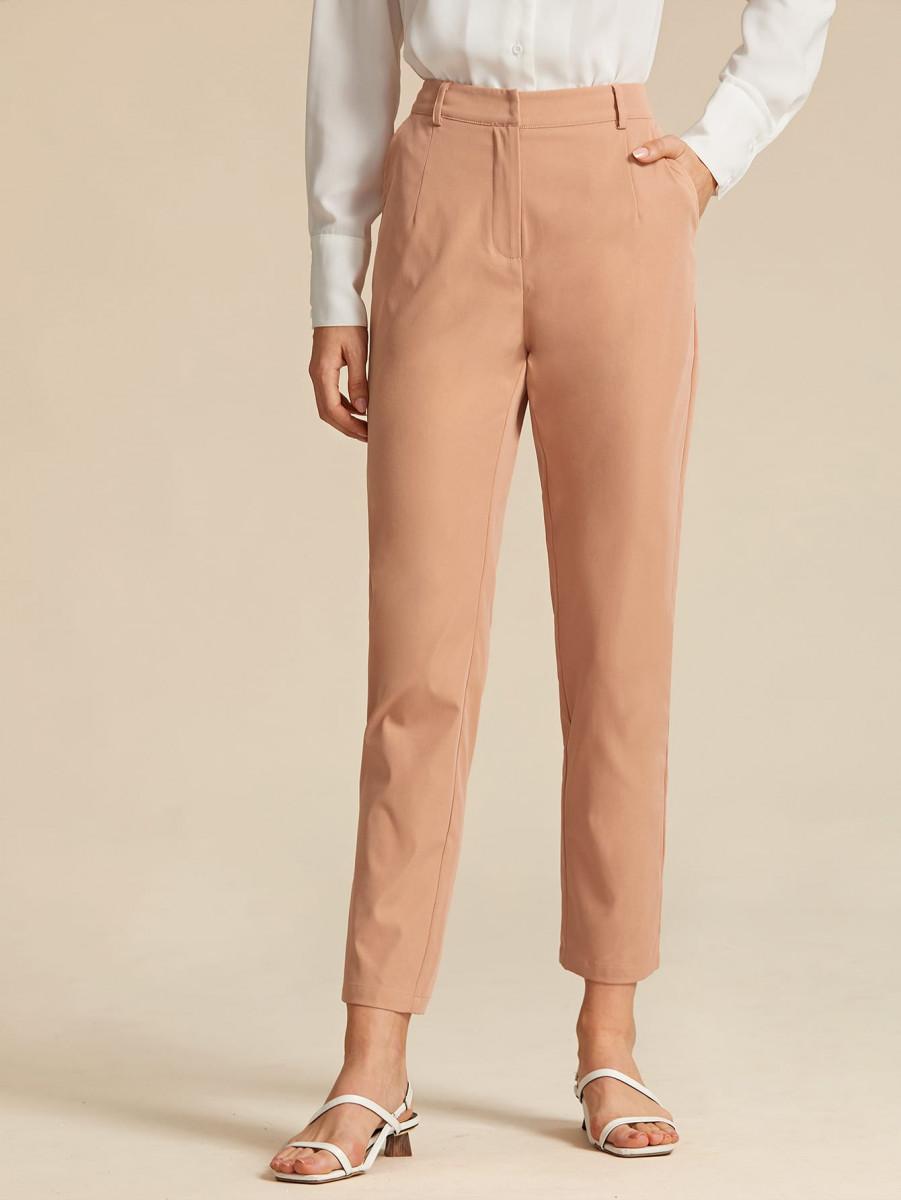 Solid Wide Leg Elastic Waist Velvet Pants