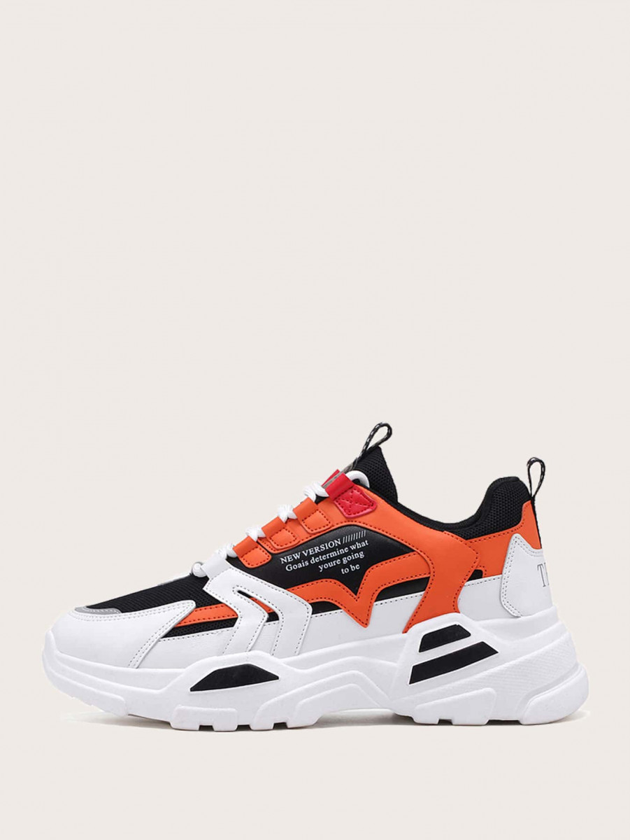 Men Colorblock Chunky Sneakers