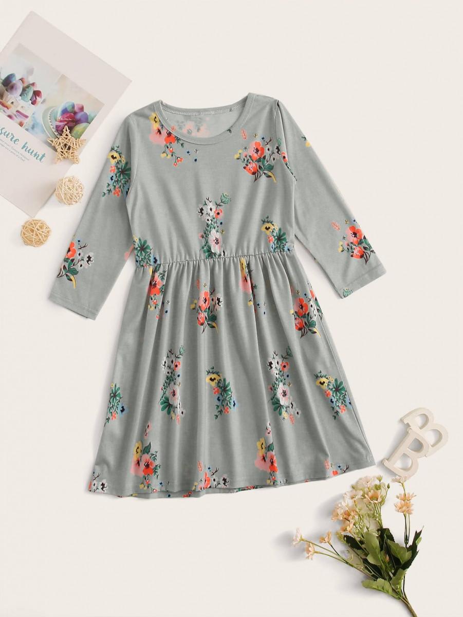 Toddler Girls Floral Print Night Dress