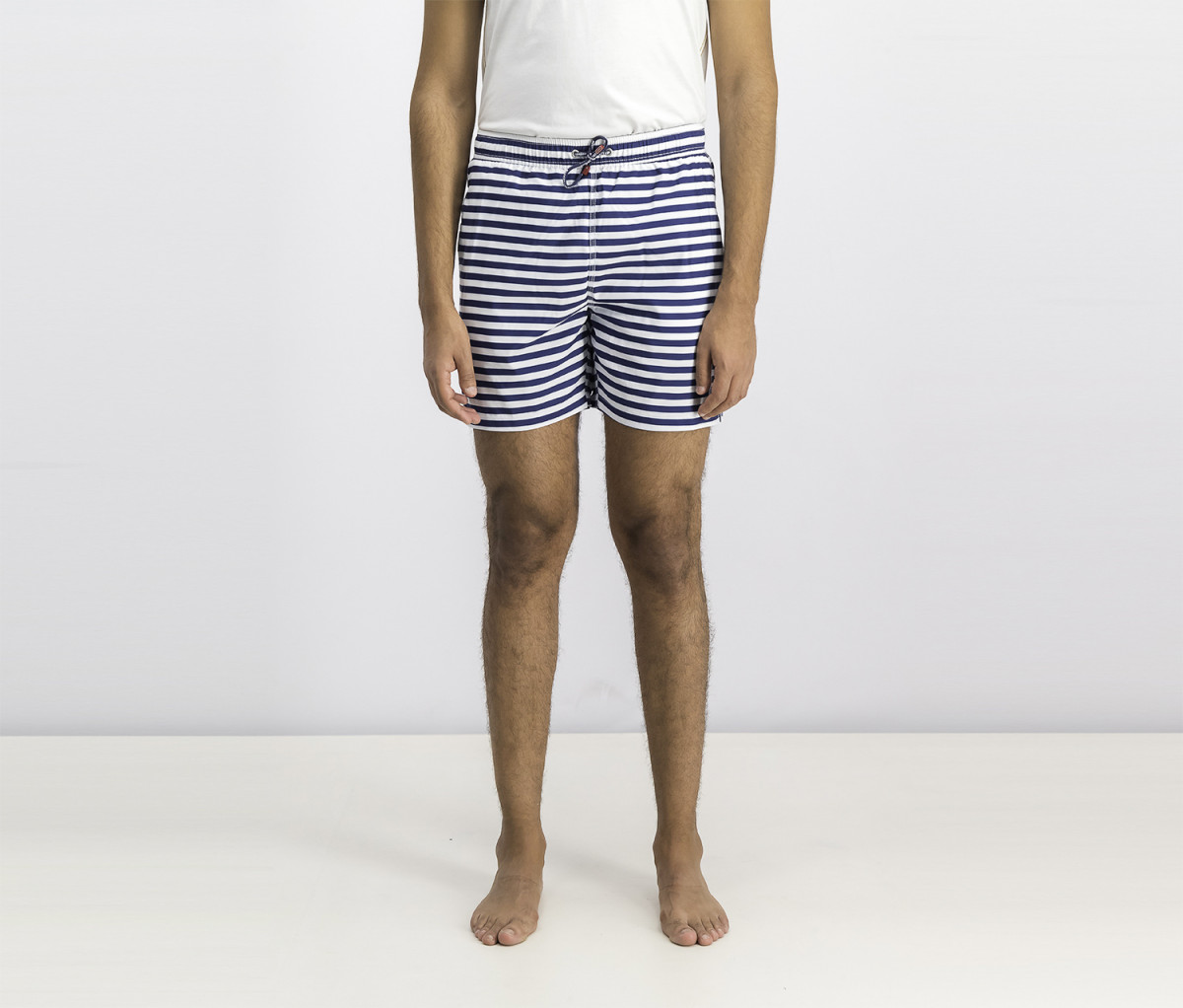 Hackett Mens Deck And Chair Stripe Shorts  Navy/White
