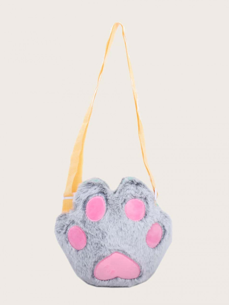 Girls Bear Paw Shaped Crossbody Bag