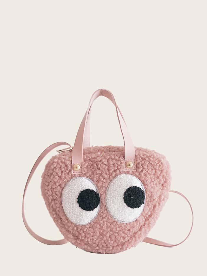 Girls Eye Patch Fuzzy Bags