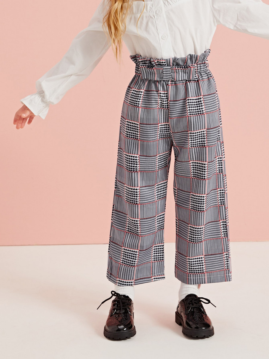 Toddler Girls Allover Print Paperbag Waist Pants