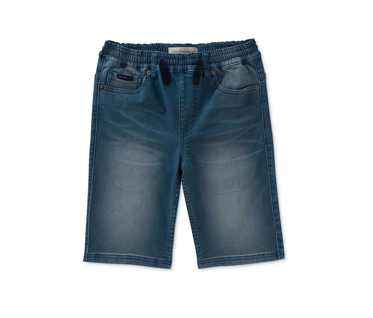 Calvin Klein Big Boys Knit Denim Shorts  Blue