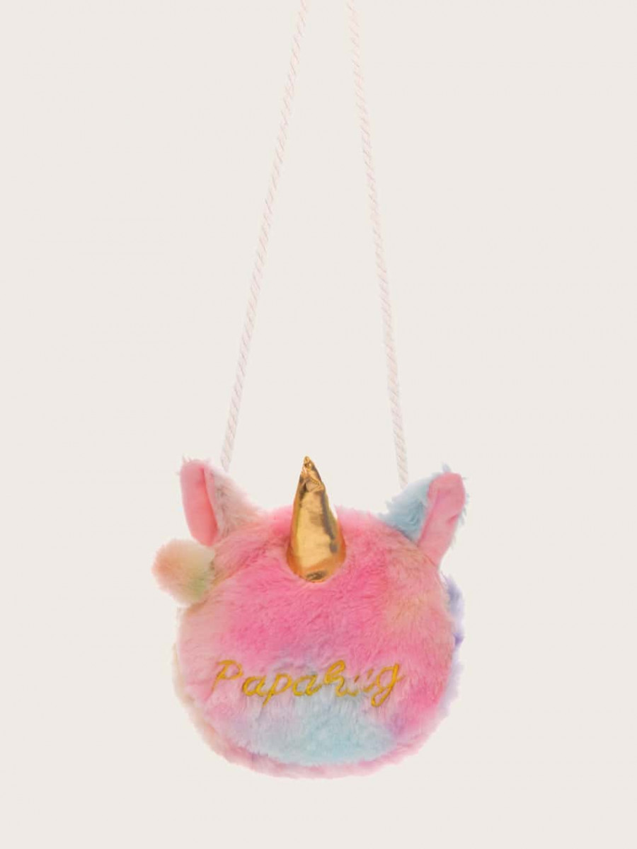Girls Gradient Unicorn Adjustable Crossbody Bag