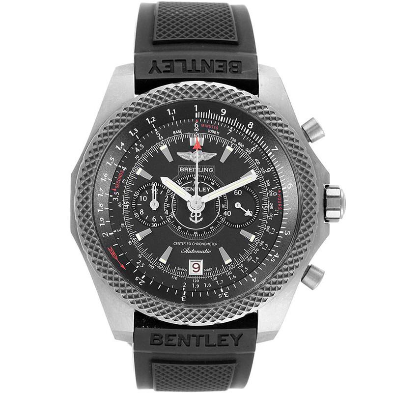 Breitling Black Stainless Steel Bentley Super Sports E27365 Men's Wristwatch 49 MM
