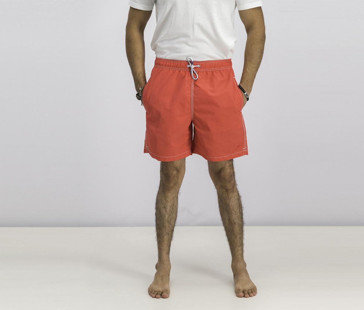 Hackett Mens Solid Volley Swim Short  Bright Red