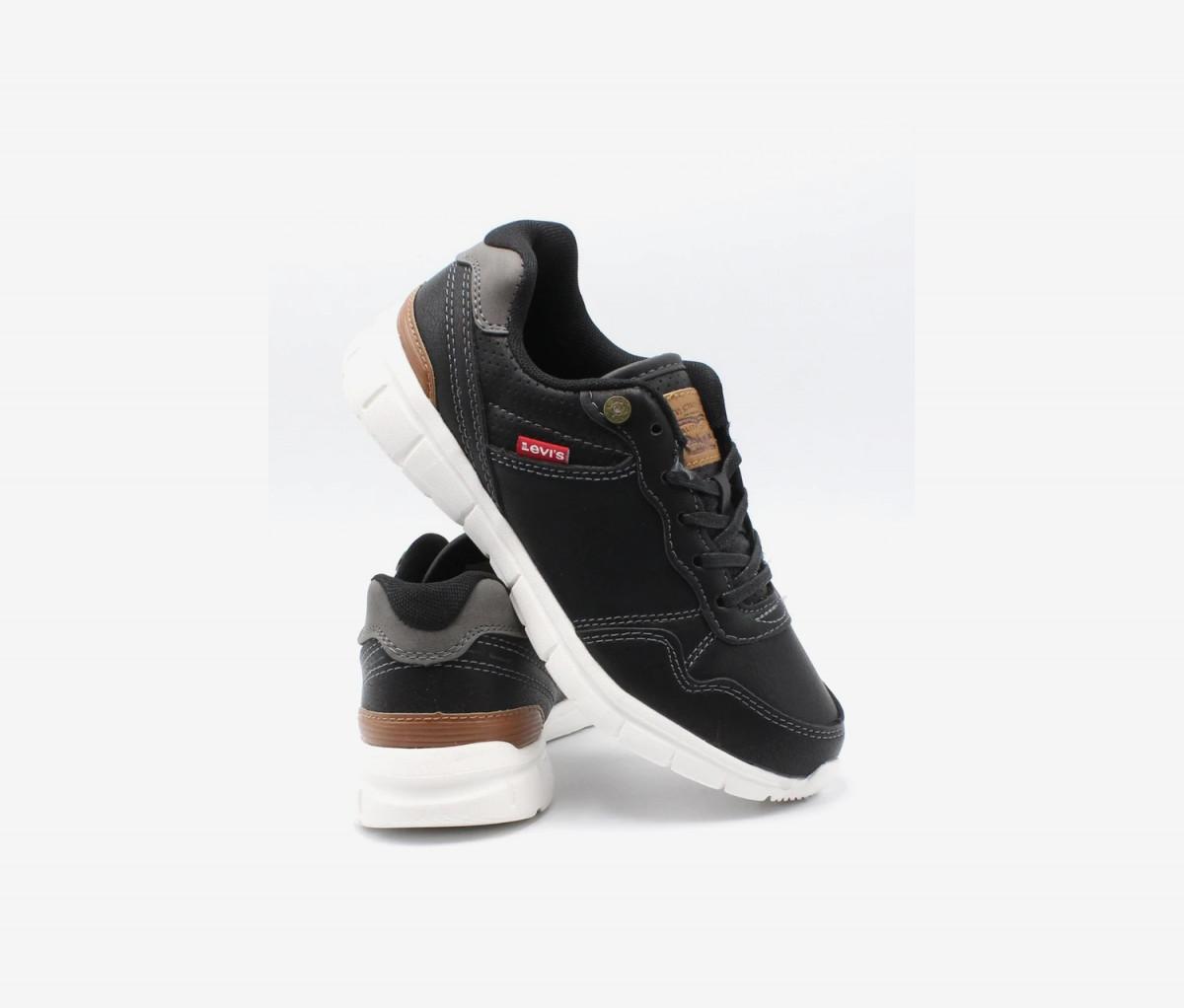 Levis Kids Boys Colby Burnish Shoes  Black/Brown