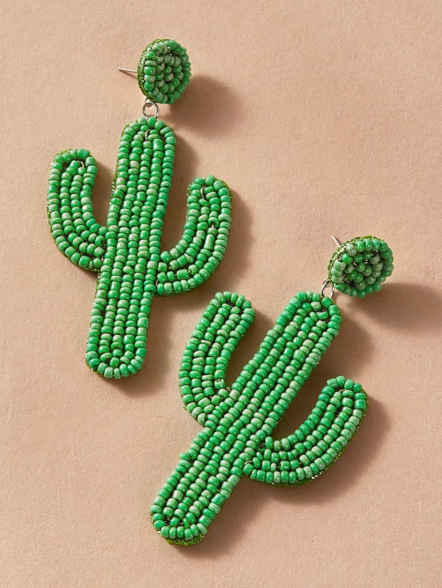 1pair Cactus Drop Earrings