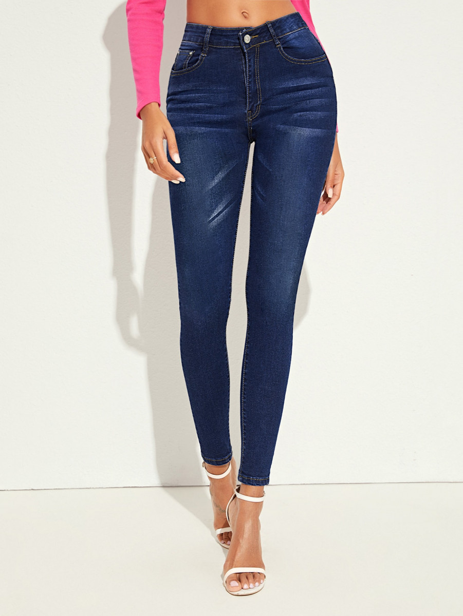 Raw Washed Cat Whiskers Skinny Jeans