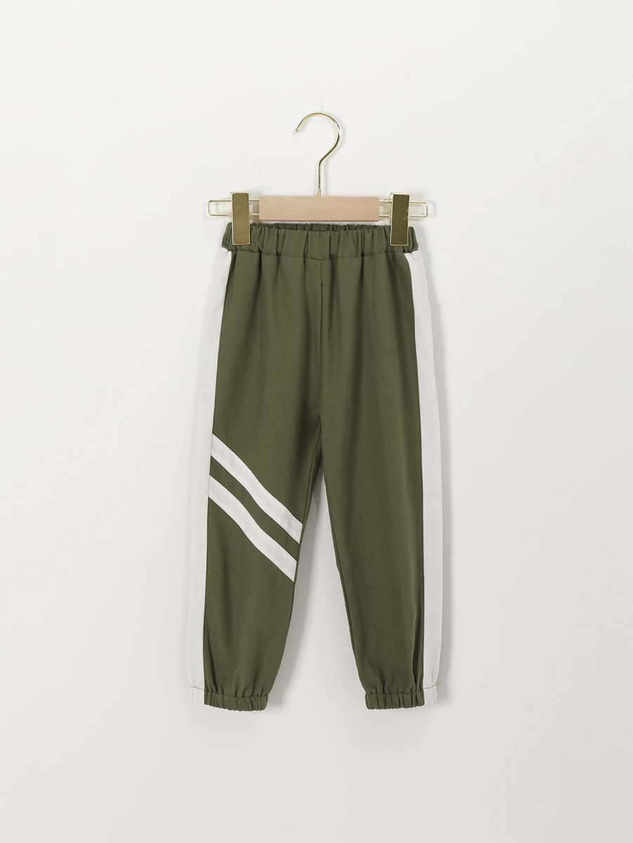 Toddler Boys Contrast Side Striped Tape Sweatpants