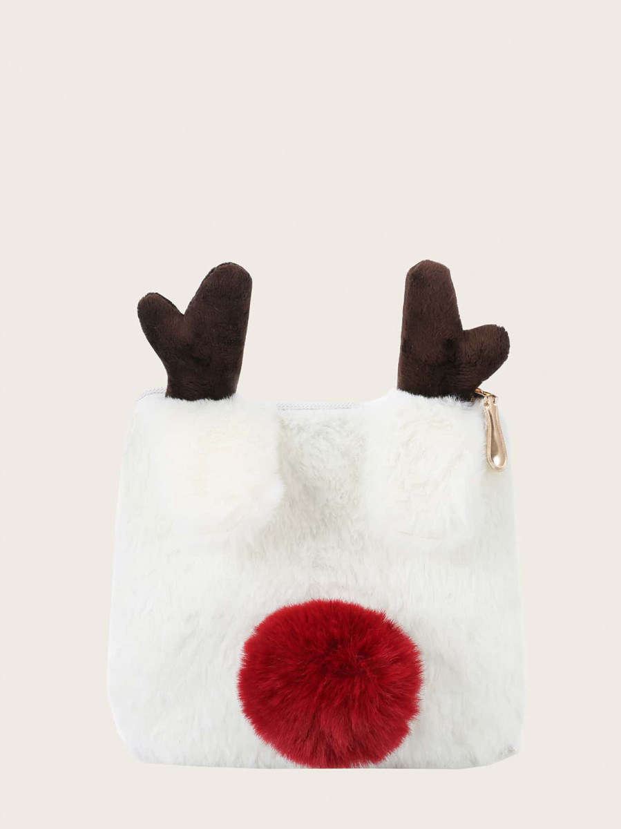 Girls Antlers & Pom Pom Chain Bag