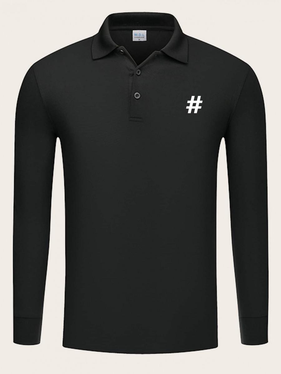 Men Graphic Print Polo Shirt