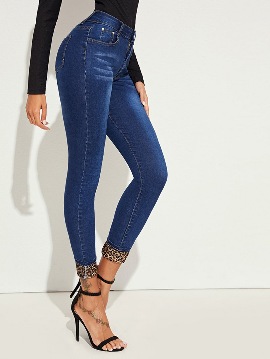 Washed 5-Pocket Cat Whiskers Skinny Jeans