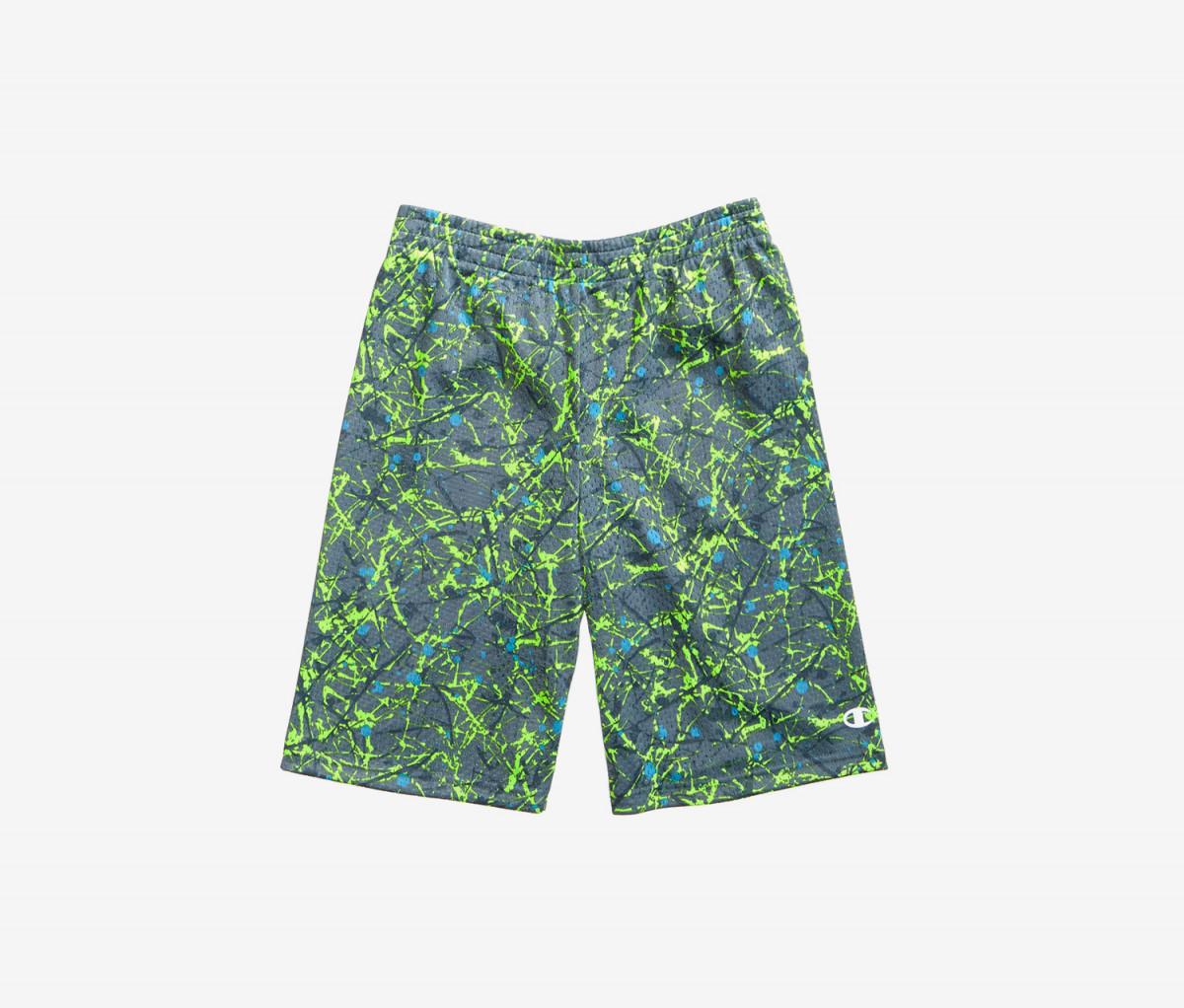 Champion Big Boy Splatter-Print Shorts  Neon Sun