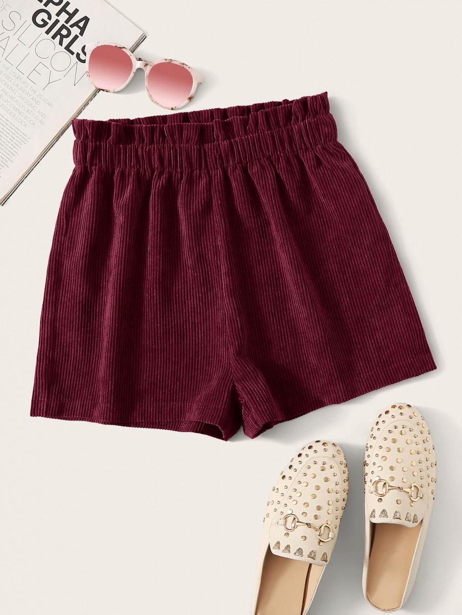 Paperbag Waist Cord Shorts