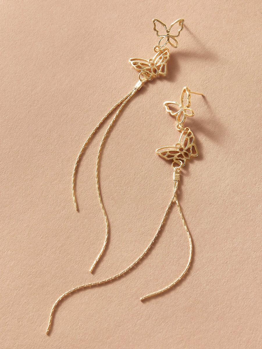 1pair Butterfly Drop Earrings