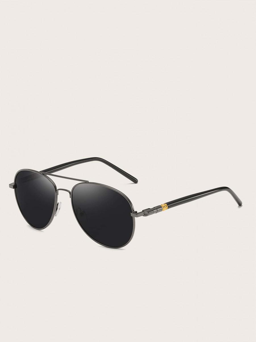 Men Top Bar Flat Lens Sunglasses