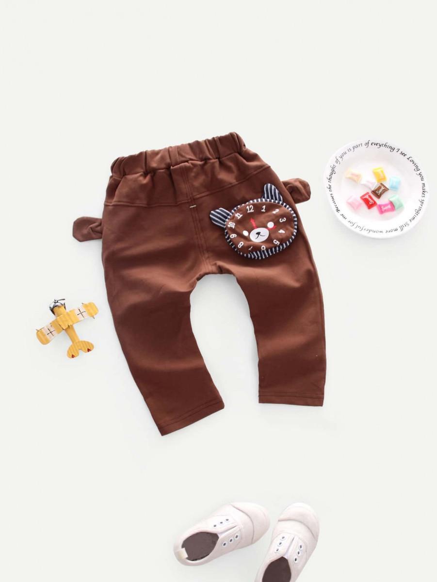 Toddler Boys Cartoon Print Pants