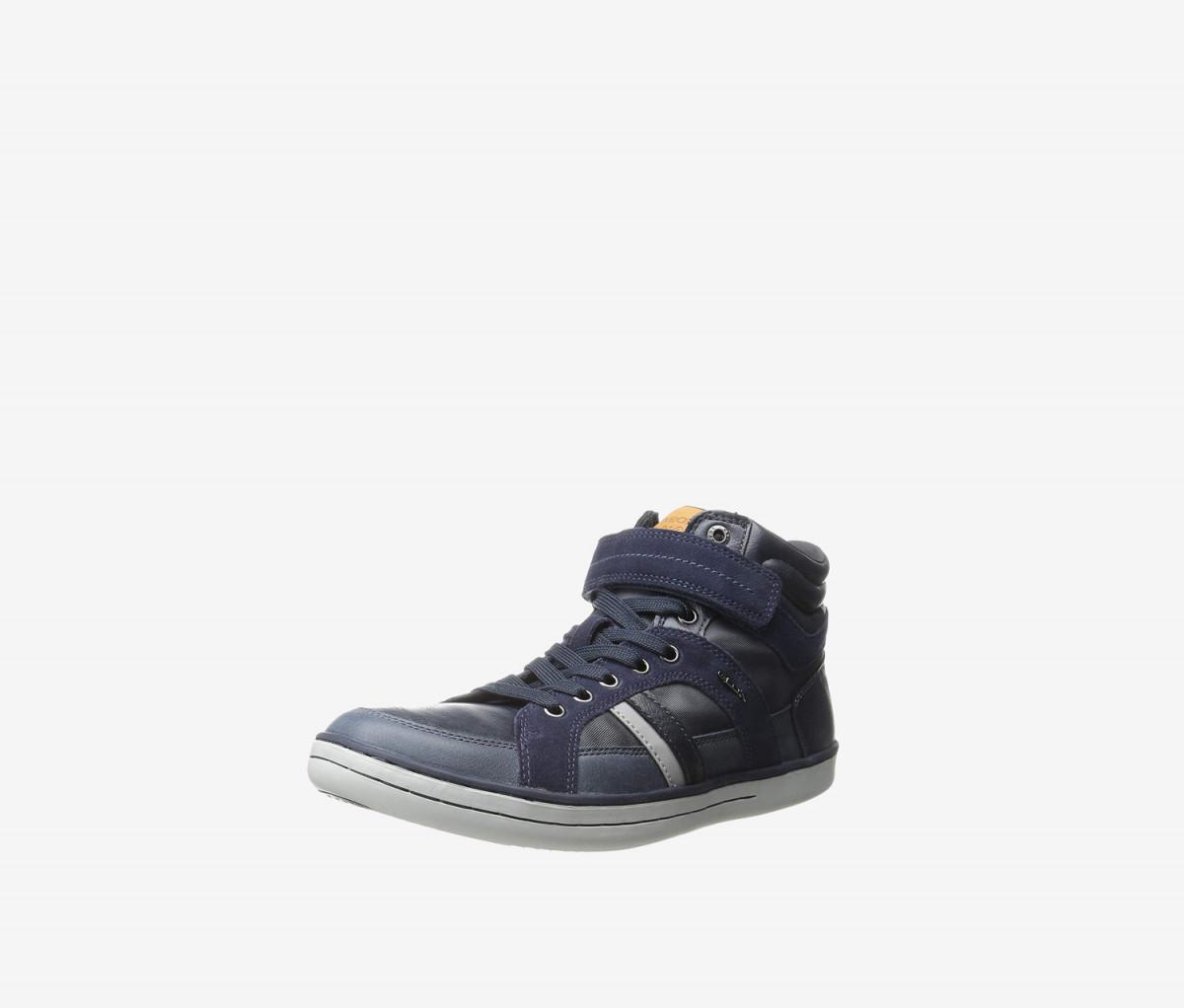 Geox Respira Boys J Garcia Shoes  Navy/Gray