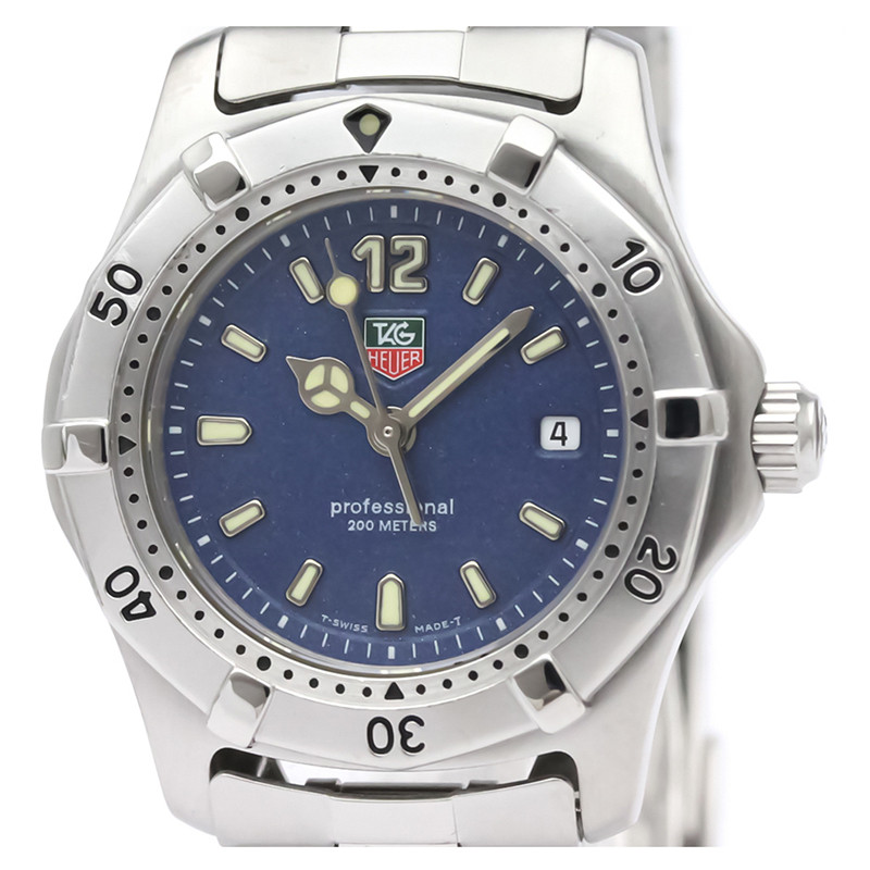 Tag Heuer Blue Stainless Steel 2000 Professional 200M WK1313 Men's Wristwatch 28MM