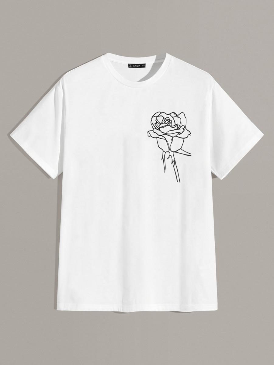Men Floral Print Top