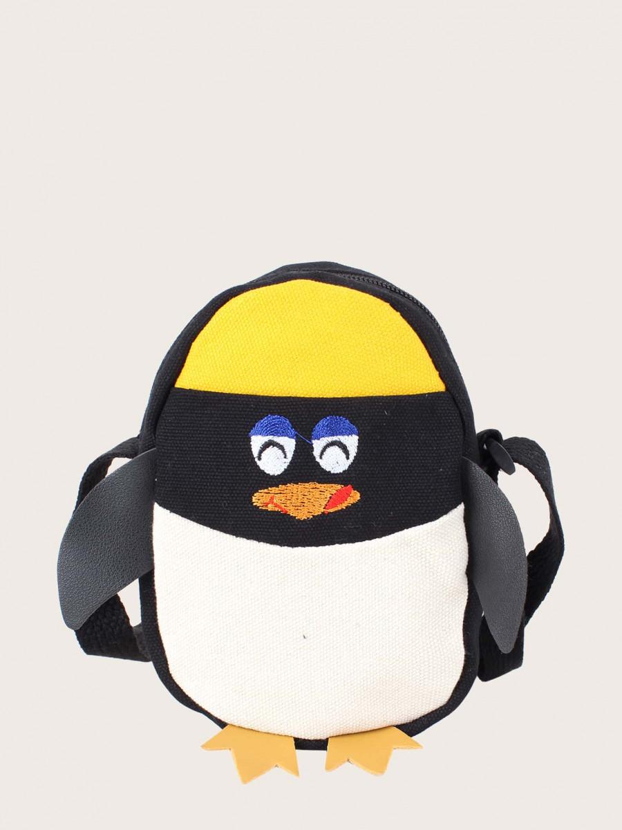 Girls Penguin Design Crossbody Bag