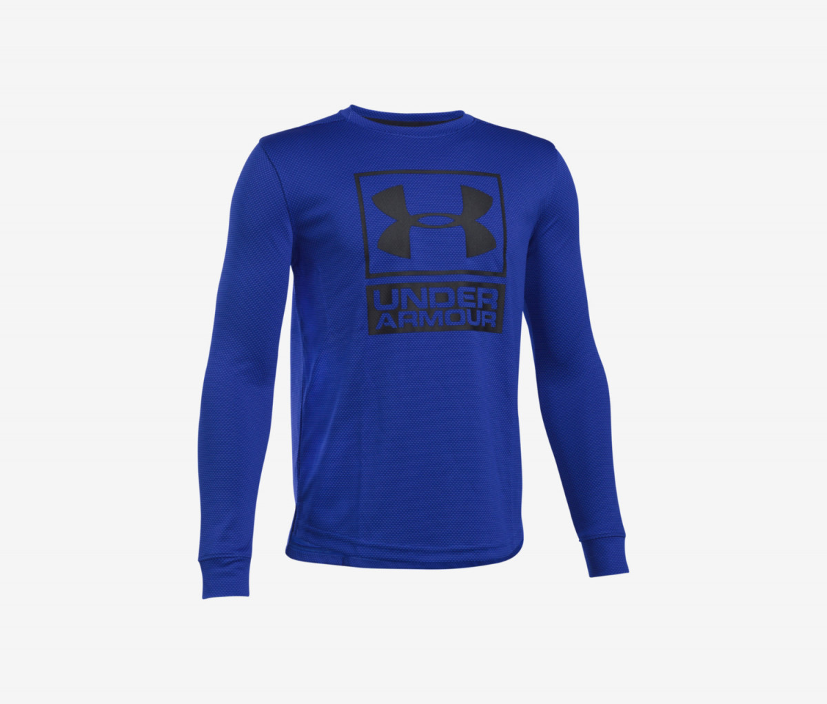 Under Armour Boys Textured Tech Crew Shirt  Blue/Black