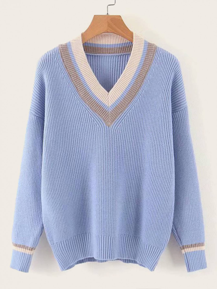 V-Neck Drop Shoulder Cricket Jumper
