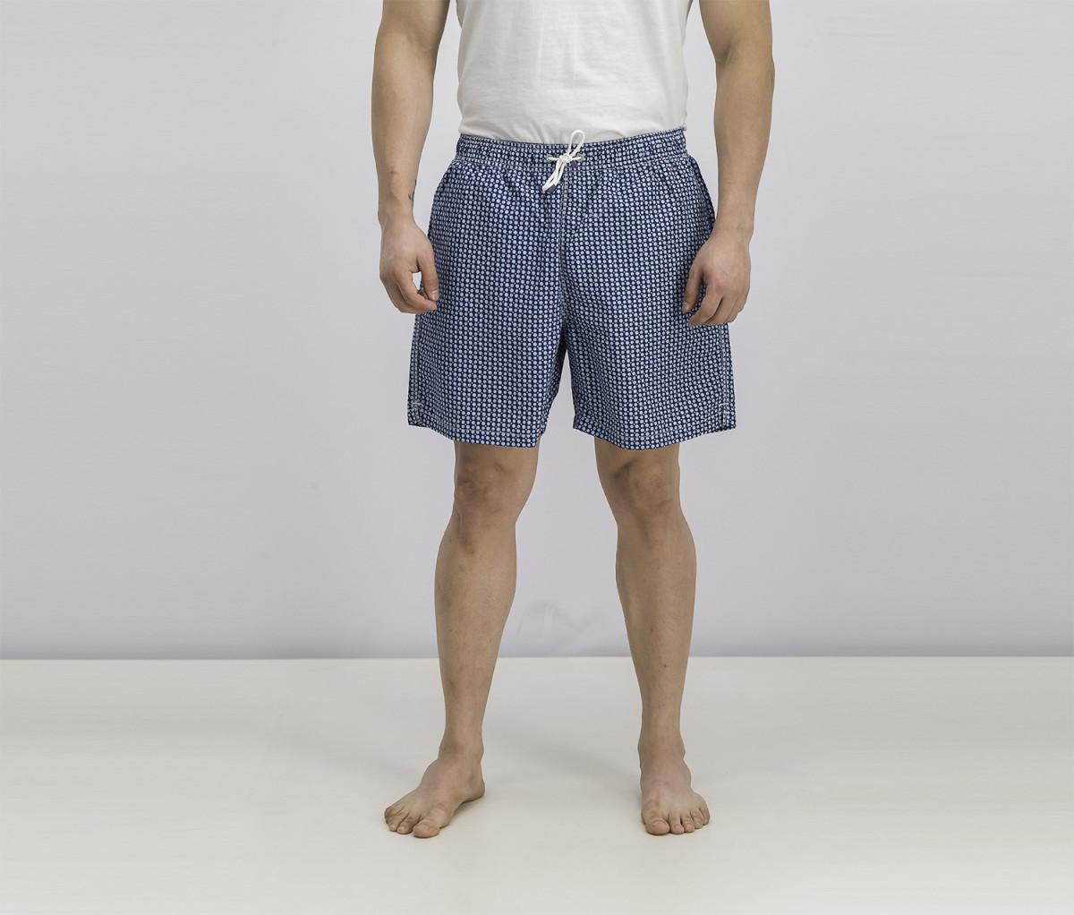 Hackett Mens Drawstring Board Shorts  Blue